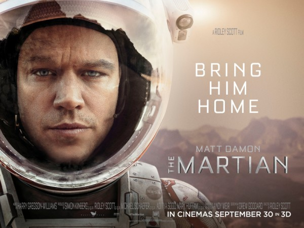 Matt Damon, The Martian - Marsl� | 2 Ekim'de Sinemalarda